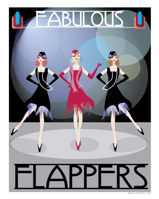 Art: The Fabulous Flappers by Artist Aimee Marie Wheaton