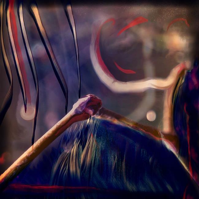 Art: Sycamore Path by Artist Caroline Lassovszky Baker