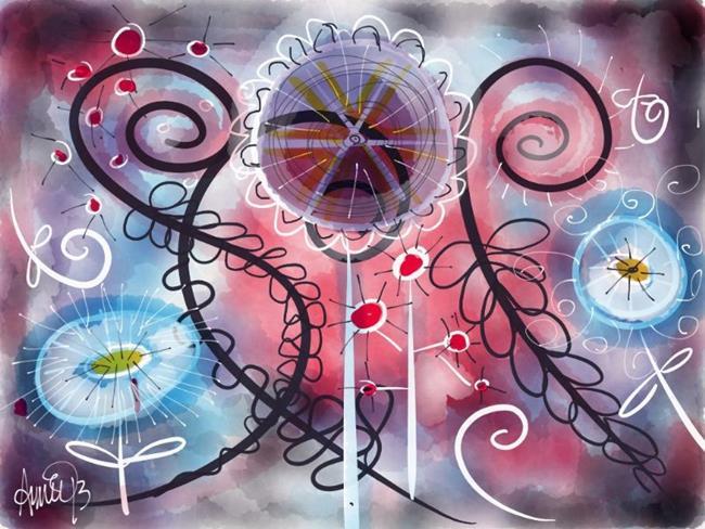 Art: Funky Flowers 4 by Artist Aimee Marie Wheaton