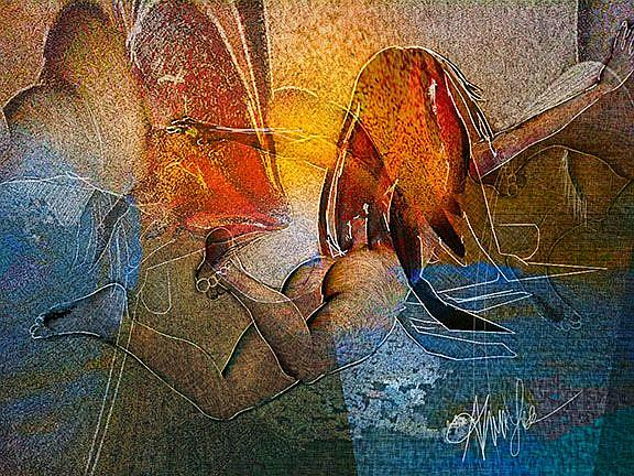 Art: Leap of Faith: Free Fall by Artist Alma Lee