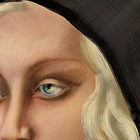 Detail Image for art Girl with a Wild Scarf: Ode to Tamara de Lempicka