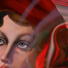 Detail Image for art Candy Cane Girl