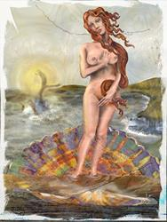 Art: Venus and Moby Dick: Clash of the Classics by Artist Alma Lee