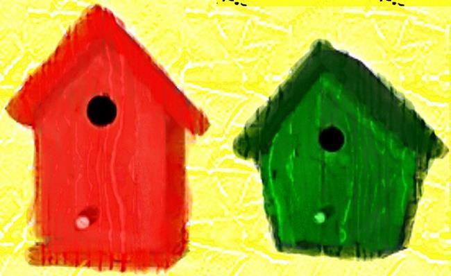 Art: Birdhouses by Artist Shane Darren Ervin