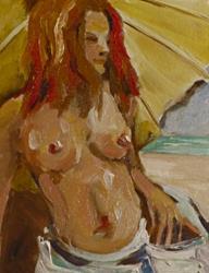 Art: Beach Diva No.6 by Artist Delilah Smith