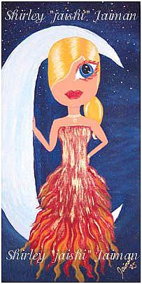 Art: Moonlight Diva by Artist Shirley Inocenté
