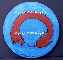 Art: Perpetual Motion:Weiner Chasing His Tail by Artist Jenny Doss