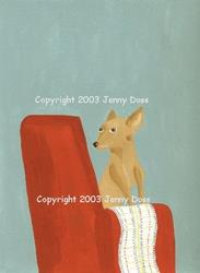 Art: Paco Had His Very Own Chair by Artist Jenny Doss