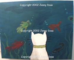 Art: Nigel at the Aquarium by Artist Jenny Doss
