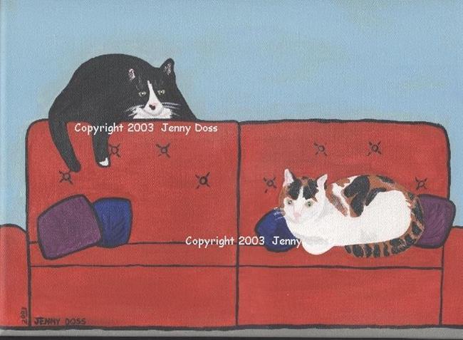 Art: Little Vic and Hecky by Artist Jenny Doss