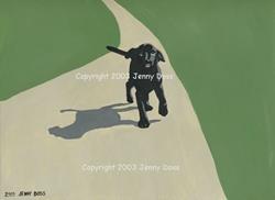 Art: Puppy Walk by Artist Jenny Doss