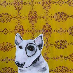 Art: Bull Terrier by Artist Jenny Doss