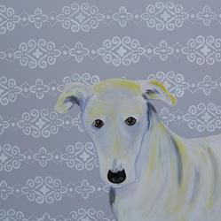 Art: Greyhound by Artist Jenny Doss
