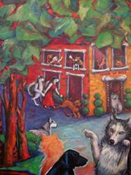 Art: House of Dogs (sold) by Artist Virginia Ann Zuelsdorf