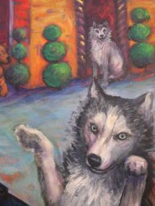 Detail Image for art House of Dogs (sold)