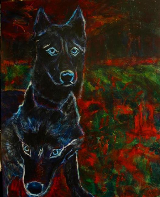 Art: Ghost Dogs by Artist Virginia Ann Zuelsdorf