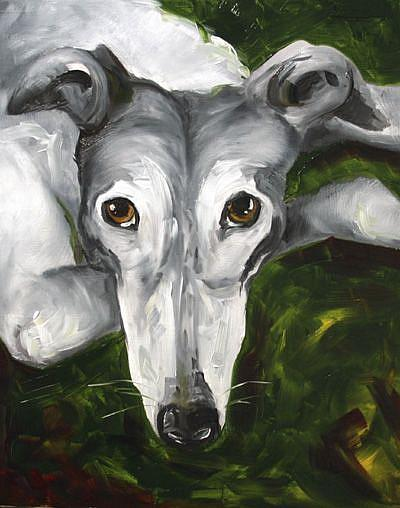 Art: Greyhound Eyes by Artist Laurie Justus Pace