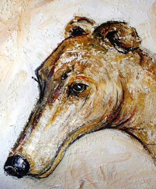 Art: Greyhound  by Artist Laurie Justus Pace