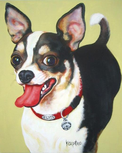 Art: Elvis the Chihuahua by Artist Rebecca Stringer Korpita