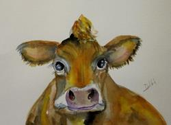 Art: Cow No 7 by Artist Delilah Smith