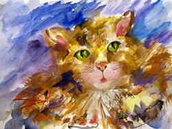 Art: Kitty Cat-SOLD by Artist Delilah Smith