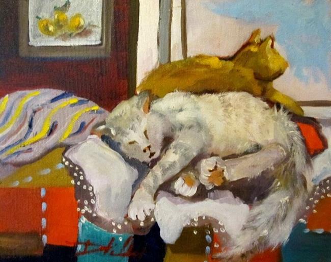 Art: Cat Nap by Artist Delilah Smith