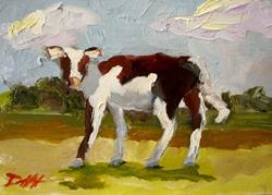 Art: Calf by Artist Delilah Smith
