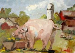 Art: Pig Pen by Artist Delilah Smith