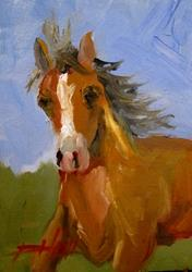 Art: Horse-SOLD by Artist Delilah Smith