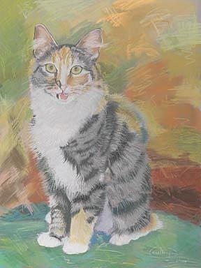 Art: Kitty Talk by Artist Carol Thompson