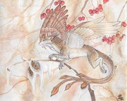 Art: Winter Secrets by Artist Little Leviathan Art