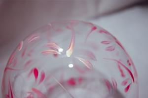 Detail Image for art Pink Dragonfly Ball Candle Holder