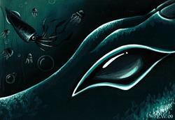 Art: Eye Of the Deep Sea Serpent by Artist Elaina Wagner
