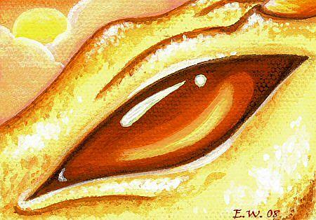 Eye Of The Sun Dragon - by Elaina Wagner from Dragons