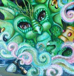 Art: Genie in a bottle by Artist Saskia Franken-Saers