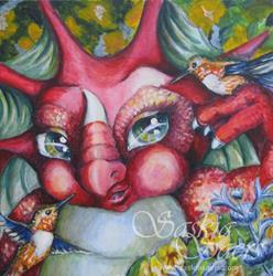 Art: Feathery Friends by Artist Saskia Franken-Saers