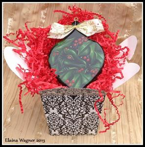 Detail Image for art Holly Dragon Ornament