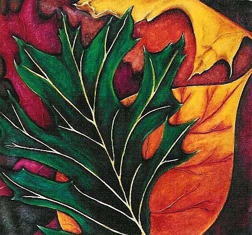 Art: SOLD - Leaves and Pavement by Artist Shawn Marie Hardy