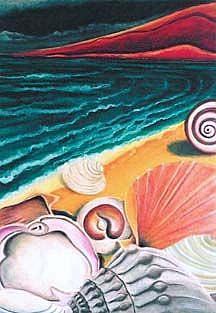Art: SOLD - Luminous Beach by Artist Shawn Marie Hardy