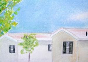 Detail Image for art Little Beige Houses