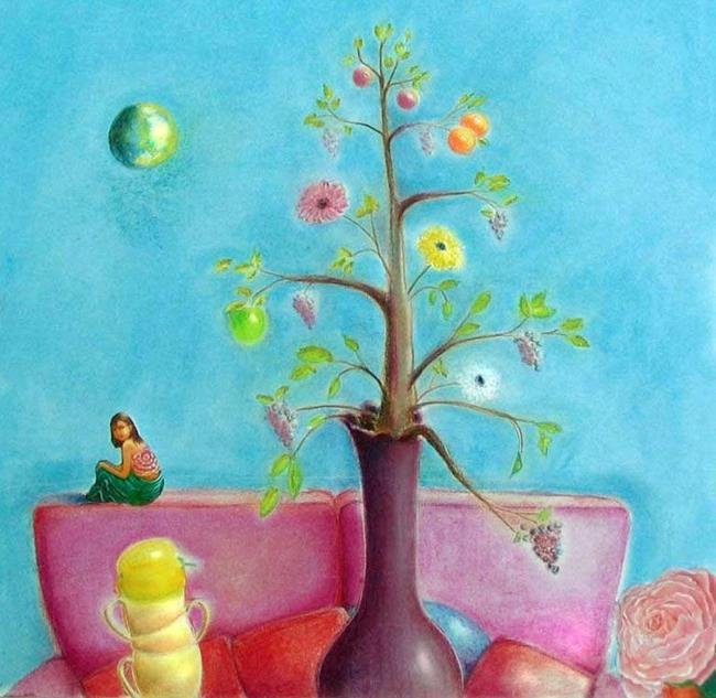 Art: Sold - A Dream after Dinner at Seuss's by Artist Shawn Marie Hardy