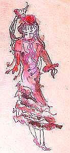 Art: Dancer in Red by Artist Kathabela Wilson