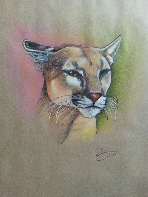 Art: Cougar by Artist Richard R. Snyder
