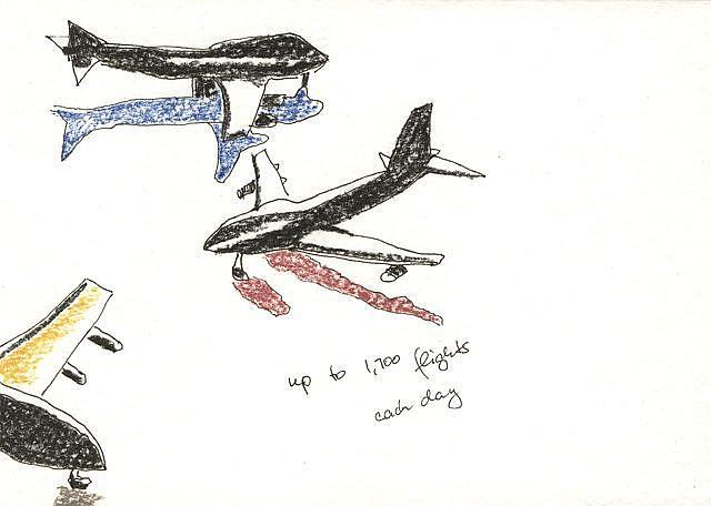 Art: 1700 FLIGHTS by Artist Gabriele Maurus