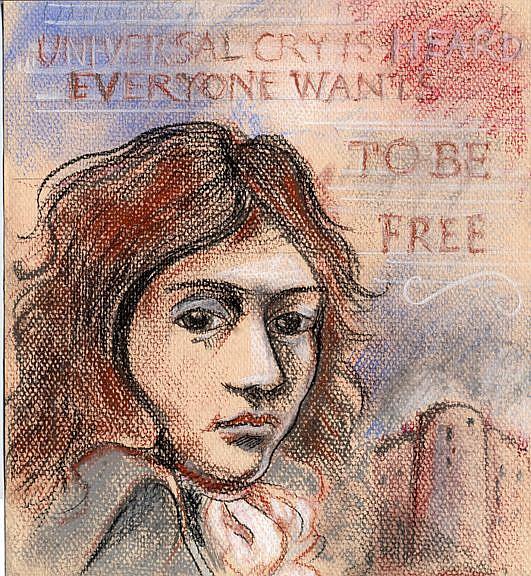 Art: Camille Desmoulins by Artist Muriel Areno - Camille-Desmoulins
