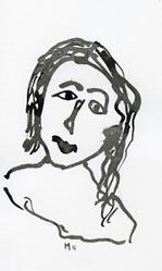 Art: Ink Portrait 15 by Artist Gabriele M.