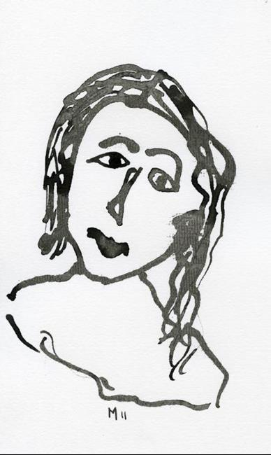 Art: Ink Portrait 15 by Artist Gabriele Maurus