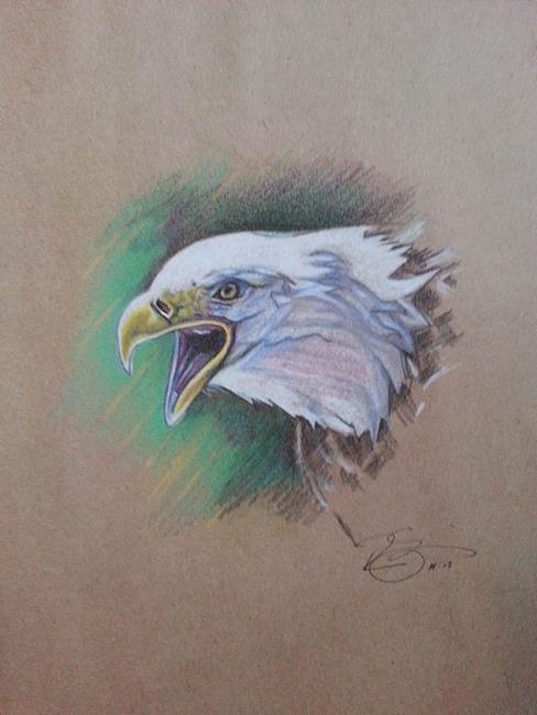 Art: Eagle.jpg by Artist Richard R. Snyder