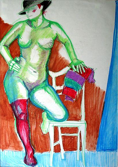 Art: Female figure I by Artist Muriel Areno