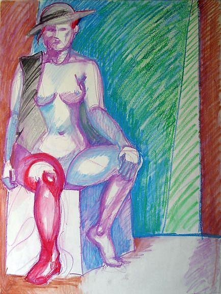 Art: Female figure II by Artist Muriel Areno